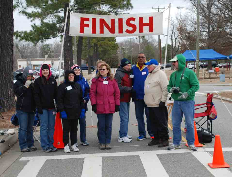 Ft Eustis 10K Volunteers, March 2014
