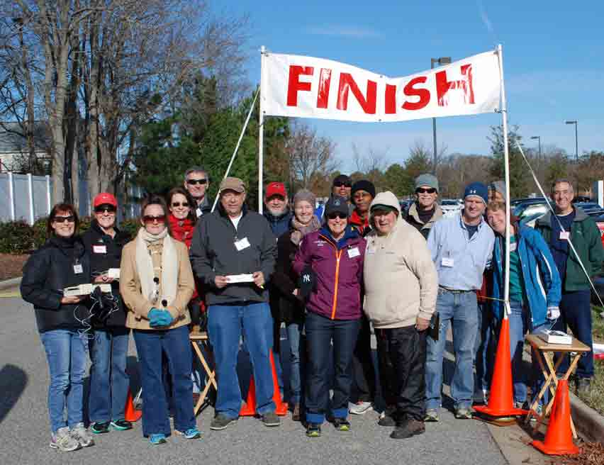 New Years Day Sentara 5K, volunteers, 2015